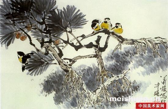 萧焕国画作品花鸟